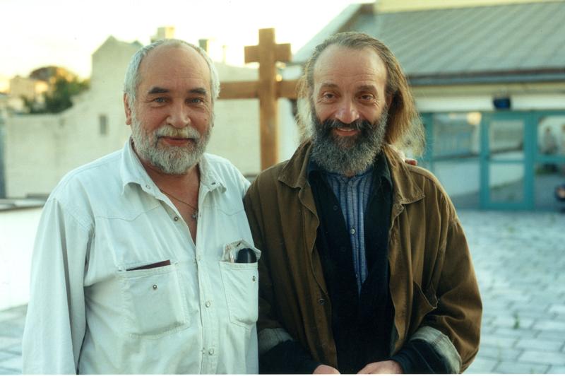 Игорь Попов и Анатолий Васильев на крыше театра
