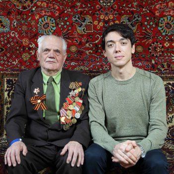 Ветеран Калинкин Анатолий Васильевич и актер Михаил Уманец
